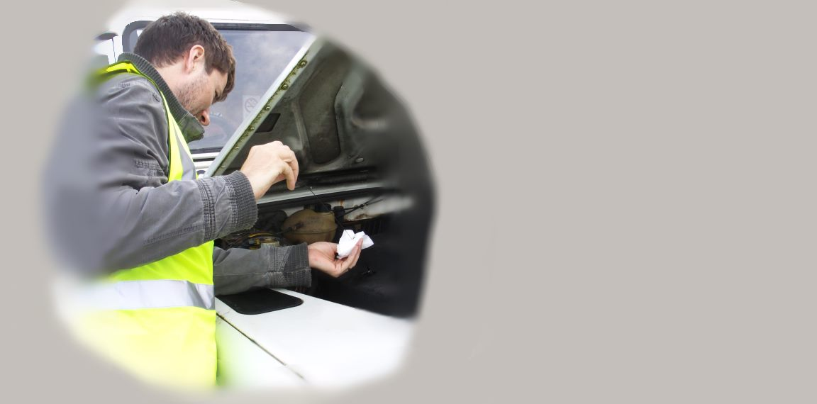 Vehicle inspection - oil check